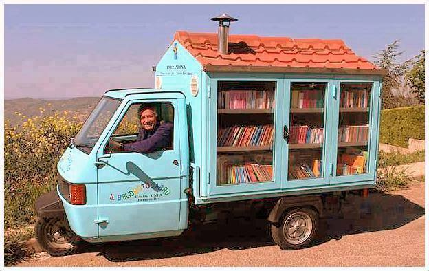 books in a book-mobile